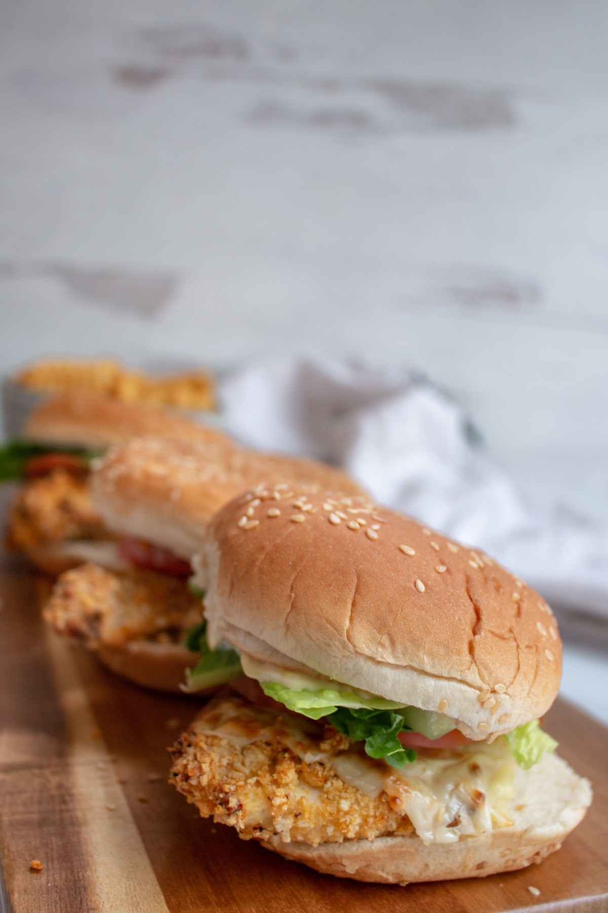 baked crispy chicken sandwich