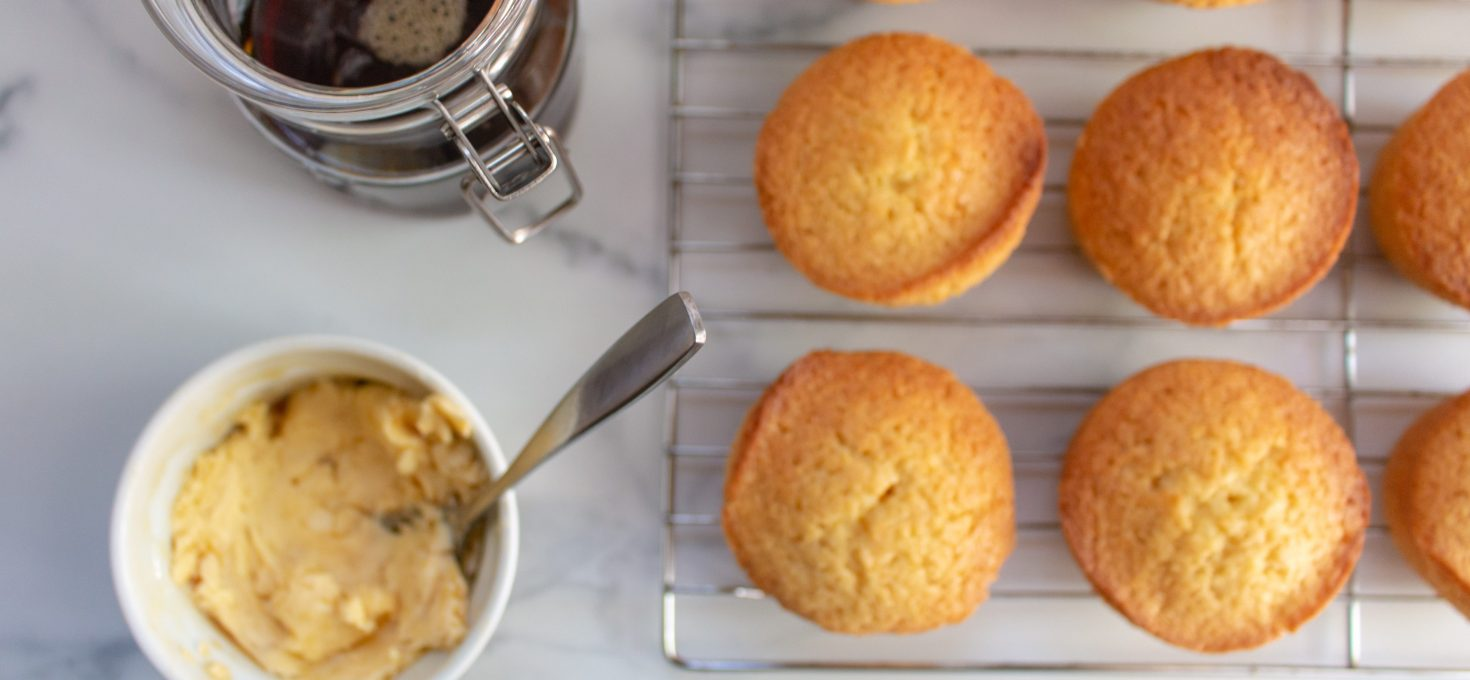 Corn Muffins with Maple Butter