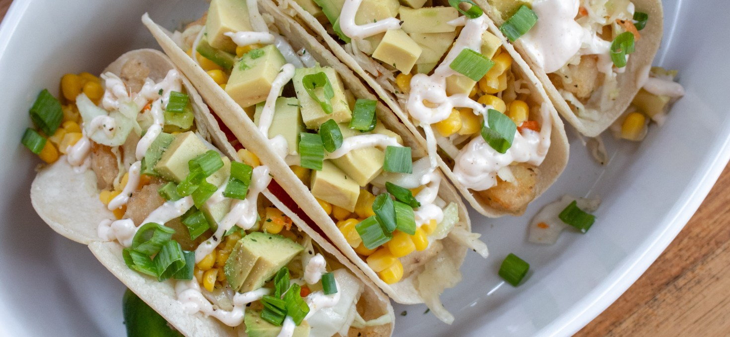 Crispy Fish Tacos with Citrus Slaw