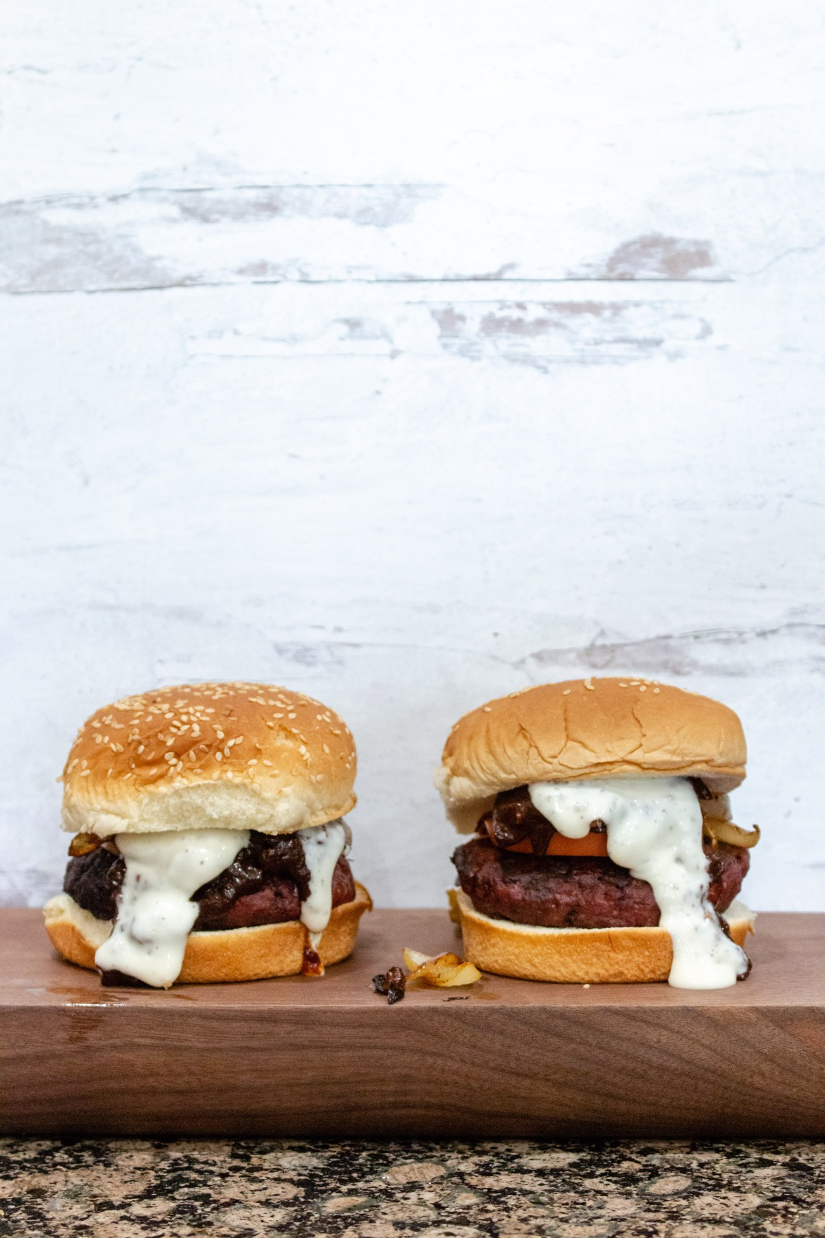 barbecue ranch burgers
