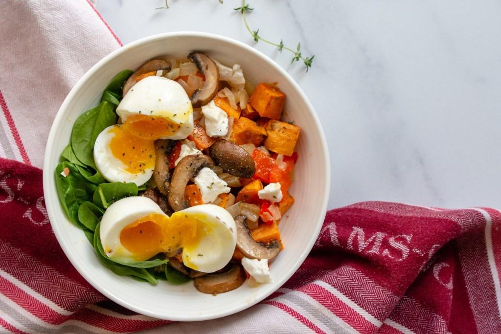 savory fall breakfast bowl