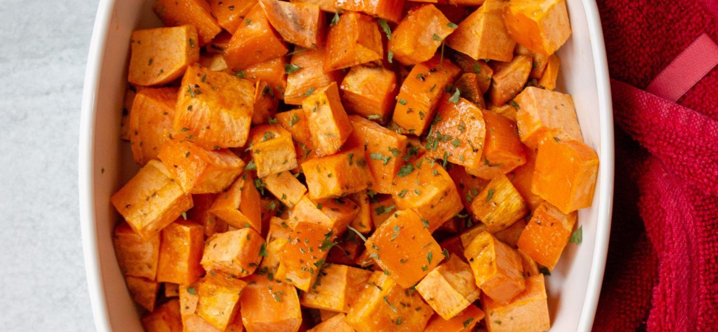 Herby Roasted Sweet Potatoes