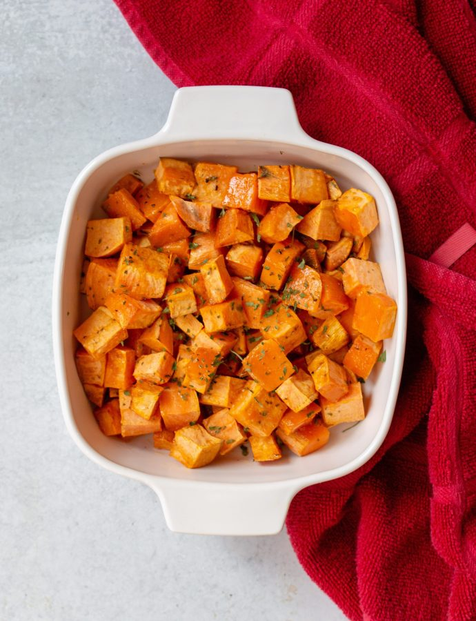 Herby Roasted Sweet Potatoes