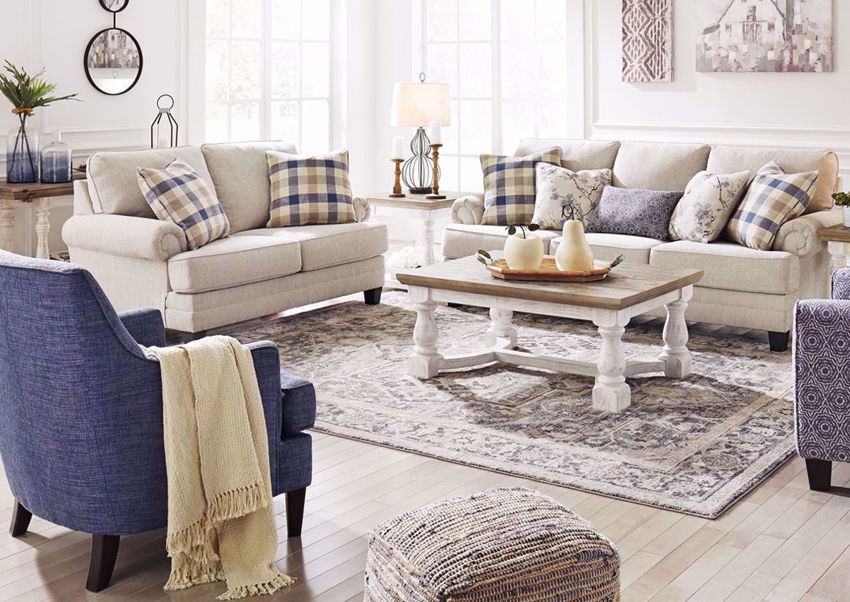 meggett sofa set off white