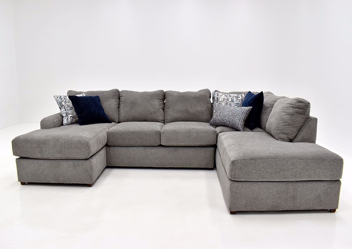 flamenco double chaise sectional sofa gray