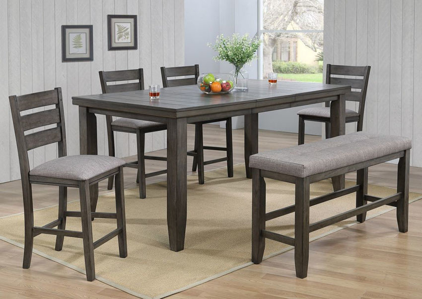 Bardstown Counter Height Dining Table Set Gray Home Furniture Plus Bedding