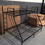 New Black Metal Frame Tri Bunk Bed Single Double Home Furniture Cape Town