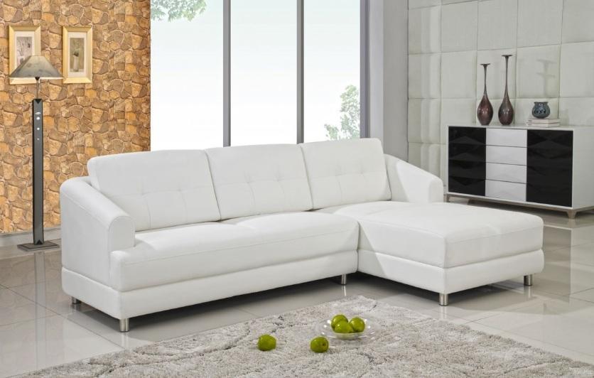 White Sectional Sofa Home Furniture Stock