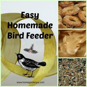 make a homemade bird feeder