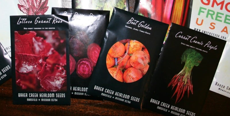photo of seed packages