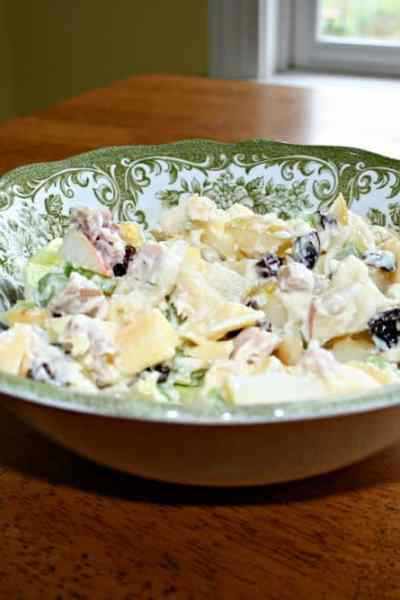 autumn waldorf salad recipe with leftover pork loin