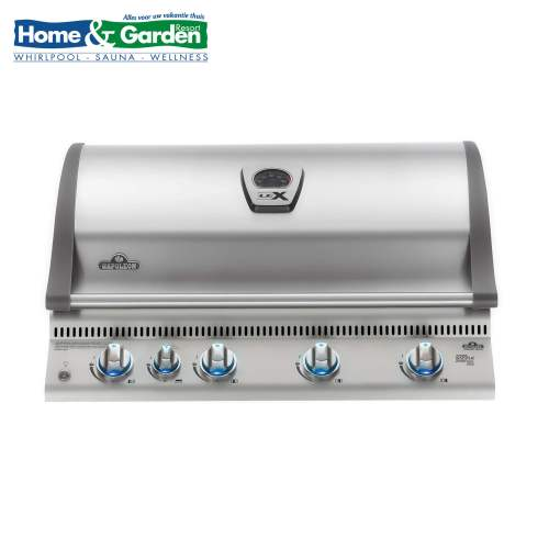 Illustratie: foto van de Napoleon BILEX605RBI gas-barbecue-grill die speciaal voor inbouw ontwikkeld is.