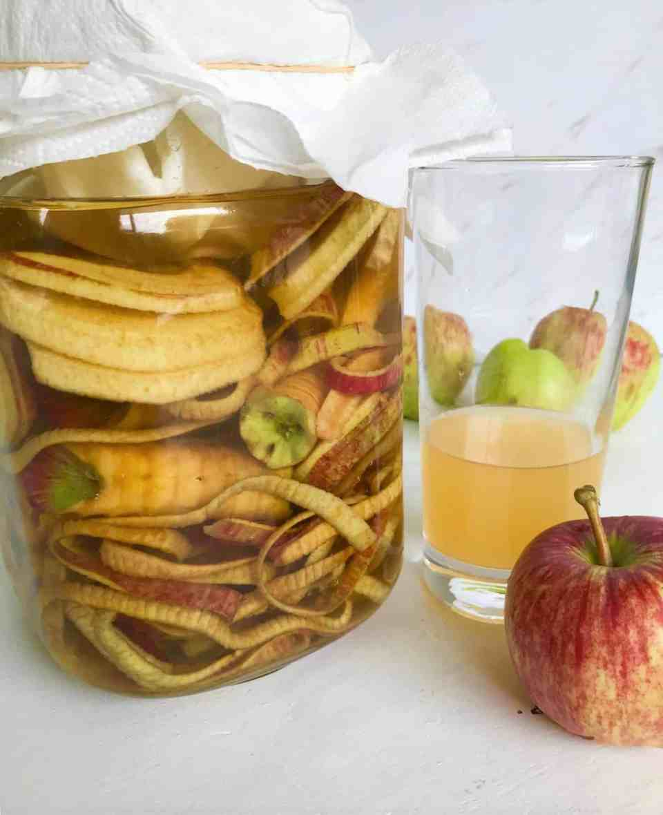 Homemade Apple Cider Vinegar from Apple Scraps