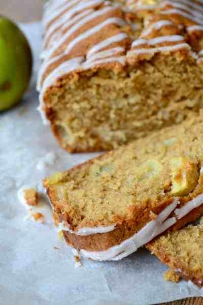Spiced Apple Loaf with Cinnamon Glaze