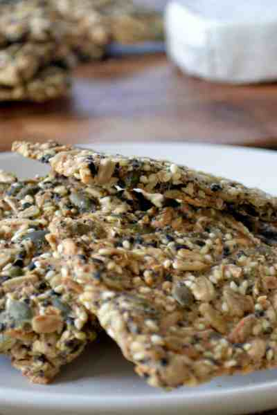 Super simple seed crackers