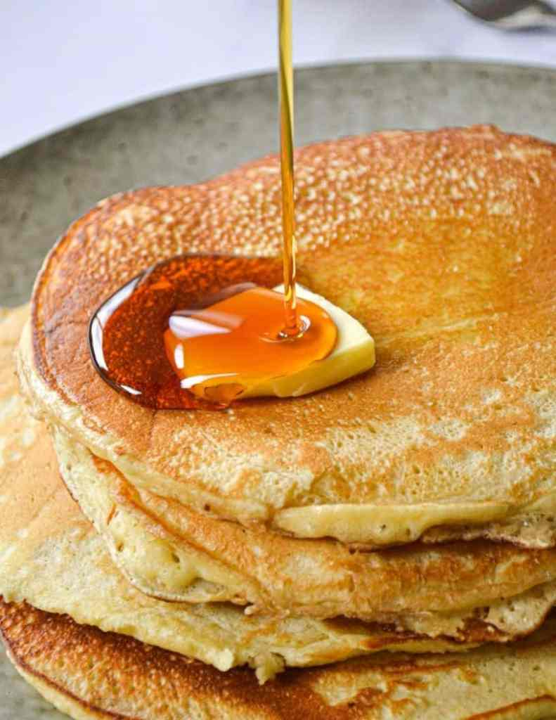 fluffy sourdough pancakes
