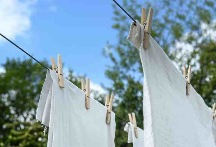 laundry on the line drying