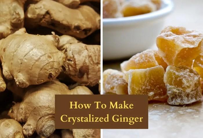 making crystalized ginger