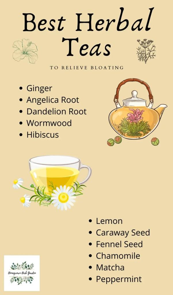 best herbal teas for bloating