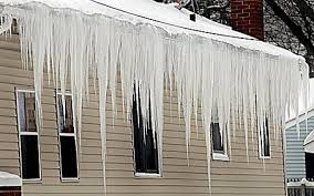 Here is a typical example of roof icicles.