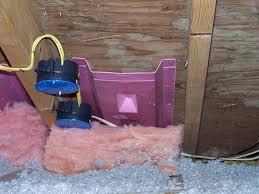 Example of attic insulation baffles.