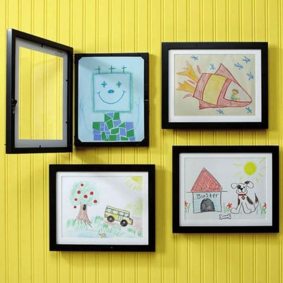 Best Ways To Incorporate Your Kids Artwork In Your House