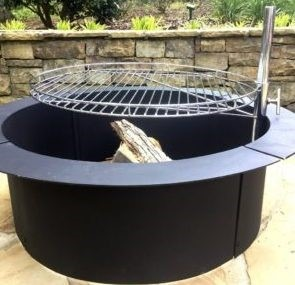 fire pit ring with grill