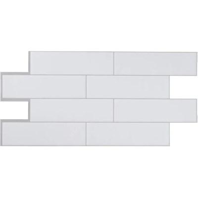smart tiles oslo peel stick backsplash tiles white 22 56 x 10 88 2 pack