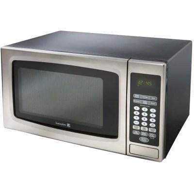 kuraidori 1000 watt 1 1 cu ft stainless steel countertop microwave oven