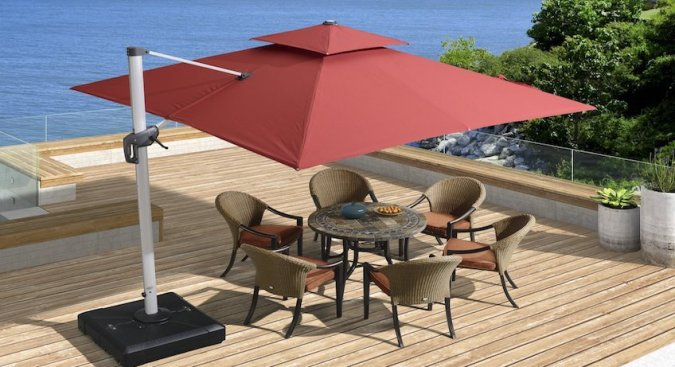Best Cantilever Umbrella Reviews  Top Tips for Buying Patio     9 4 Best cantilever umbrella Featured