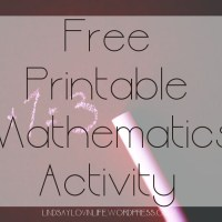 Free Printable Mathematics Activity – Word Problem 2