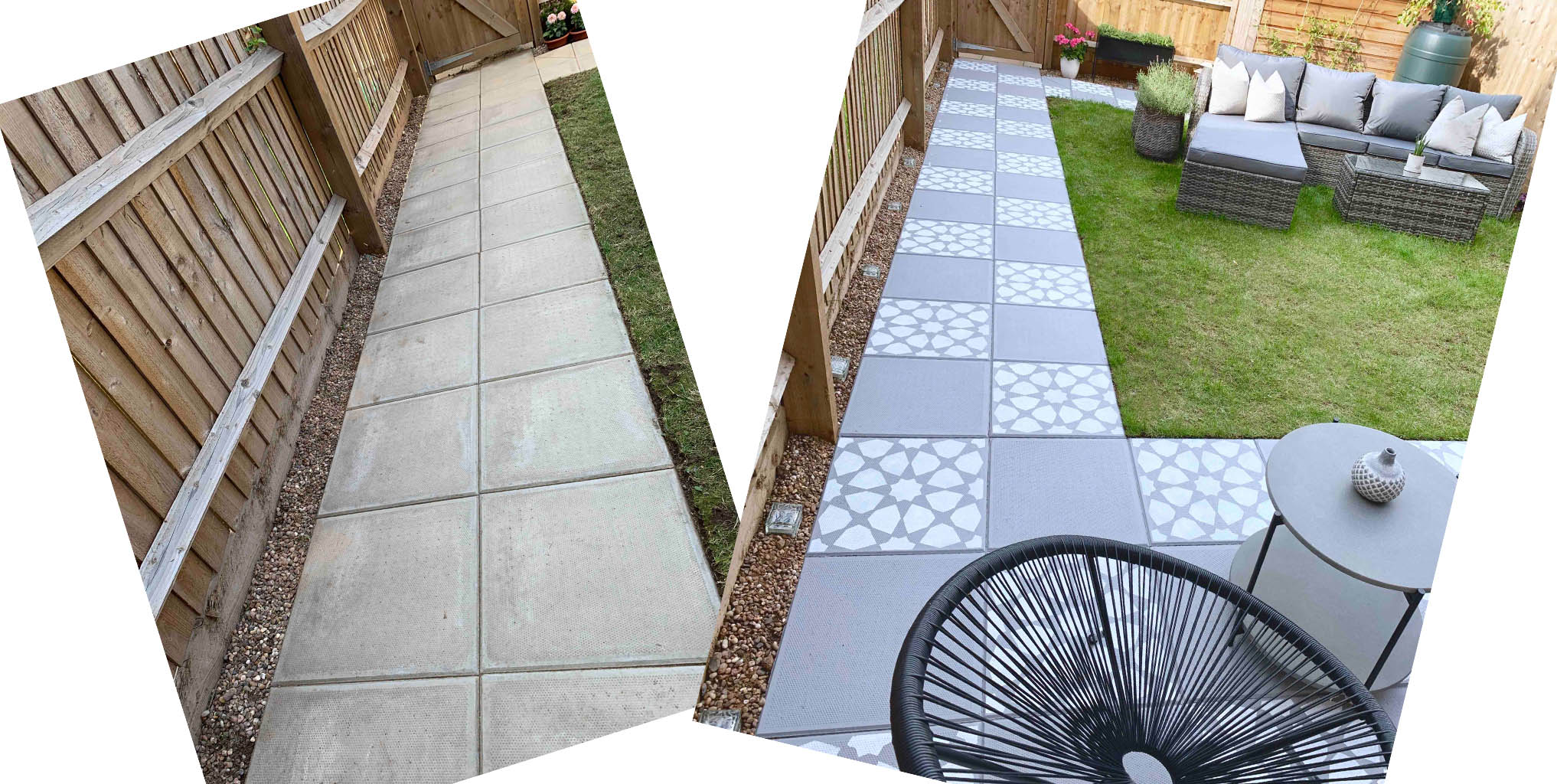 how to diy concrete garden slab