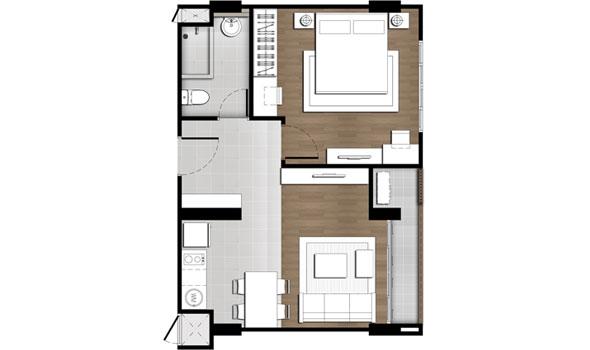 1 Bedroom - Baan Peang Ploen