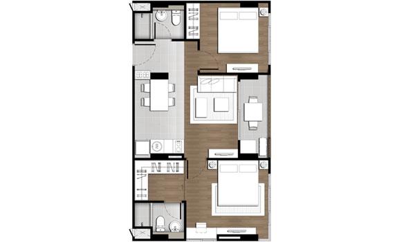 2 Bedroom - Baan Peang Ploen