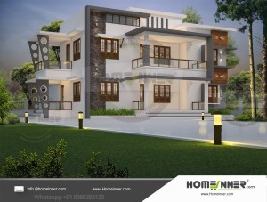 HIND-1032 House plan 3D Elevations