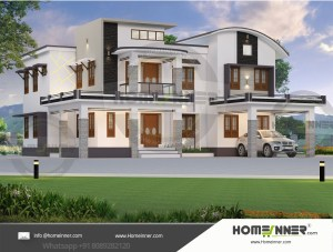 HIND-1035 House plan 3D Elevations