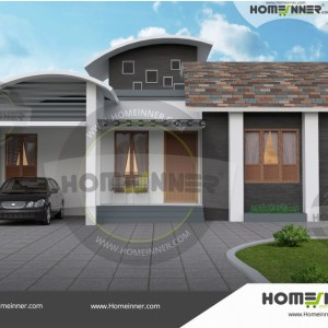 Uttar Pradesh 10 Lakh small house plan and elevation