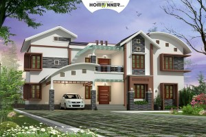 HIND-1022 House plan 3D Elevations