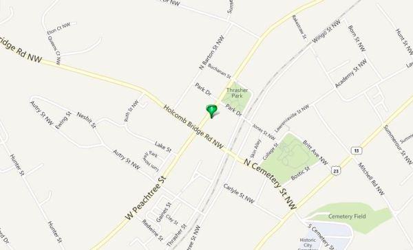Adams Vineyard Norcross GA Map Location
