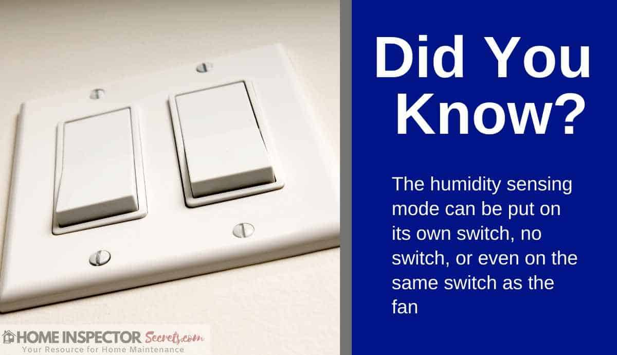 bath fans with humidity sensors
