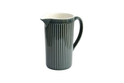 SECLA Reissue Fluted Ceramic Blue Jug