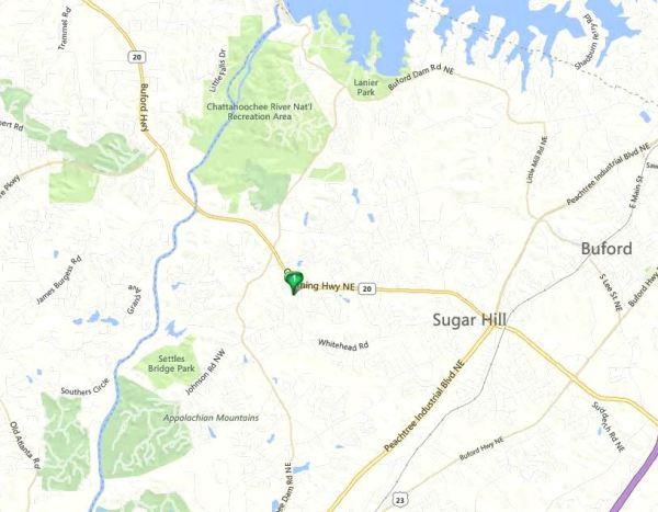 Sugar Hill GA Map Of Ashford Crossing Neighborhood