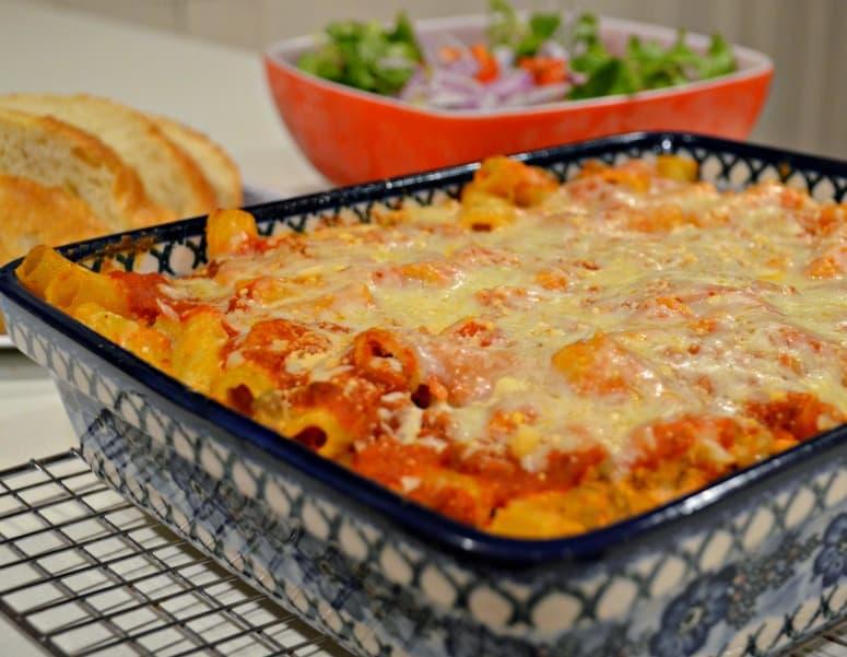 Home Style Baked Ziti Recipe