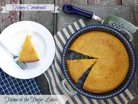 Honey Cornbread Recipe- Home in the Finger Lakes