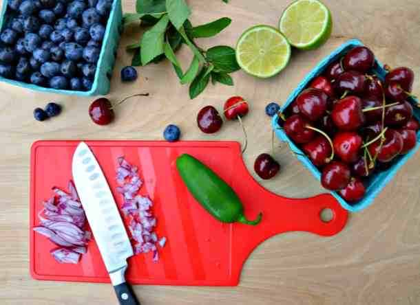 Blueberry Cherry Salsa-Home in the Finger Lakes