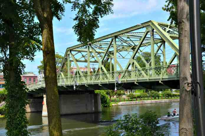 The Bridge Street Bridge in Seneca Falls is the steel truss bridge that is thought to be the inspiration for the Bedford Falls Bridge in It's A Wonderful Life