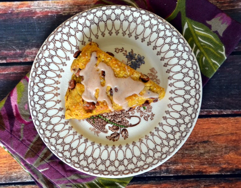 Harvest Pumpkin Scones with Spice Glaze