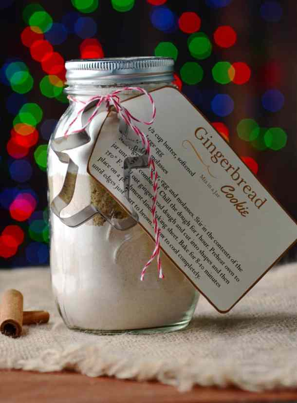 Gingerbread Cookie Mix in a Jar