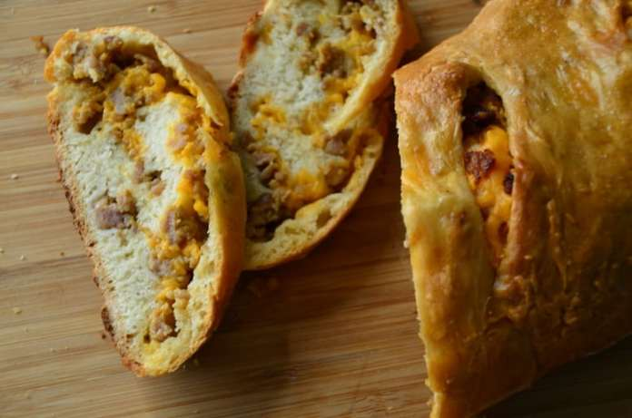 Savory sausage cheese bread