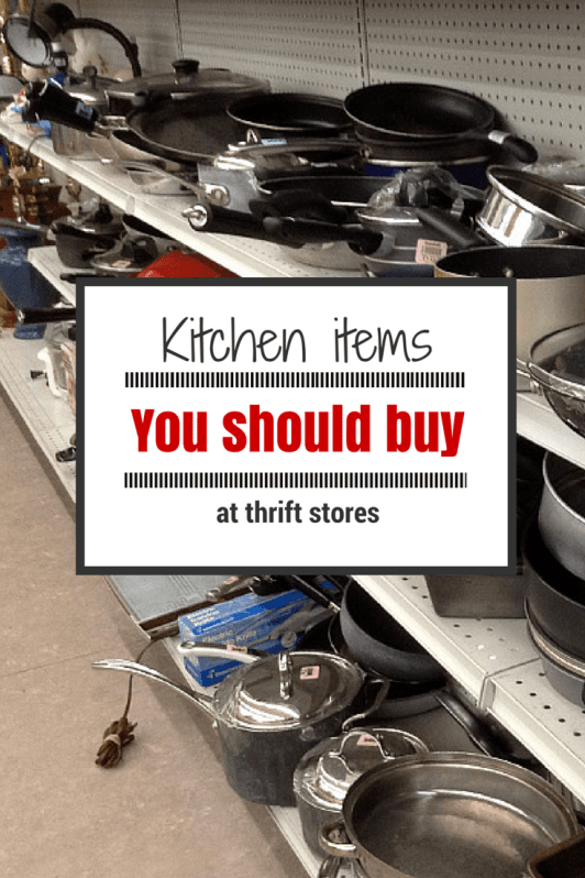 Kitchen items you should be buying at thrift stores